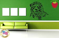 Wall Stickers Vinyl Decal Africa Animal Lion Nature Predator Tribal Decor ig873