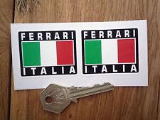 FERRARI ITALIA Tricolore Style Stickers 50mm Pair Dino Mondial GTO GTB GTS Enzo