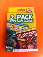 BICYCLE 2 PACK KIDS CARD GAMES GO FISH SLAPJACK