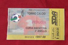 biglietto Calcio Stadio - TORINO PERUGIA 1997 1998 CURVA MARATONA