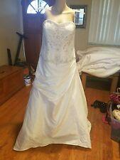 Oleg cassini wedding dress David's Bridal size 16 ivory style CV303 strapless