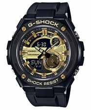 Casio G-Shock G-Steel GST-210B-1A9 Black & Gold Analog Digital Led Brand New