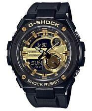 Casio G-Shock G-Steel GST-210B-1A9 Black & Gold Analog Digital Led Brand New