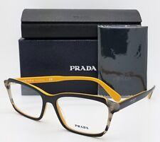 6ebdad0f73da NEW Prada RX glasses frame PR 01VV 30Z1O1 55mm Black Yellow Tort AUTHENTIC  PR01