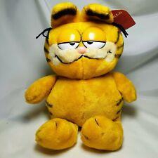 "Vintage Garfield Plush Cat  1981 Fun Farm Sitting Stuffed Toy  10"""