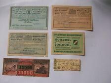 6 Antike Lotterie Lose 1884-1947 Prag Buenos Aires , Schwerin, Sachsen König