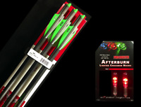 """6 VICTORY ARROWS with 2 LIGHTED NOCKS FOR CROSSBOW 20"""" HALF MOON"""