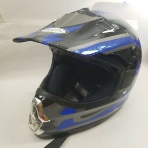 MOTORCYCLE HELMET BMX Youth Blue Black Gray Grey