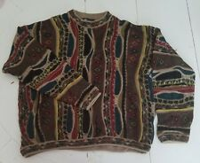 Tundra Canada Cable Knit Sweater Cosby Coogi Style Size Large