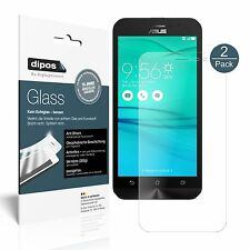 2x Asus Zenfone Go (2017) Schutzfolie matt - Folie Glasfolie 9H dipos Glass