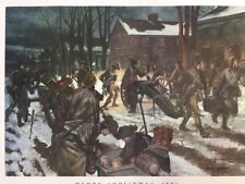 """Vintage MERRY CHRISTMAS,1776.  US Army 24"""" x 21"""" Poster"""