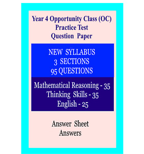 Year 4 Opportunity Class(OC) Practice Question paper NEW SYLLABUS - NEW SERIES 2