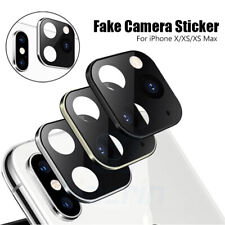 Fake Camera Sticker for iPhone X XS MAX Seconds Change to iPhone 11 Pro Max Case