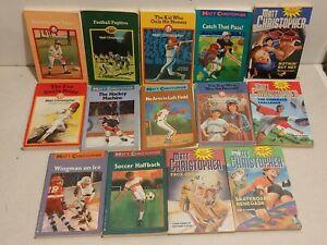 Lot 14 MATT CHRISTOPHER Sports Books Chapter Books BASEBALL Football Hockey