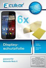 6x Motorola Moto X Schutzfolie klar Displayschutzfolie Folie Ecultor