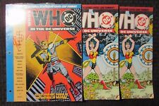 1990 WHO'S WHO In The DC Universe #4 4 6 SEALED Hawkman LOT of 3