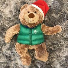 Hallmark The North Pole Teddy Bear Stuffed Animal Plush Christamas MPR4173