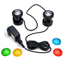 25W 200Ma 2 Led Ponds Light Set For Underwater Fountain Fish Pond Water Garden