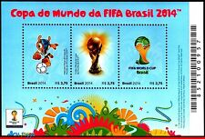 3268 Brazil 2014 WORLD CUP CHAMPIONSHIP, SOCCER FOOTBALL, SYMBOLS, FIFA, S/S MNH