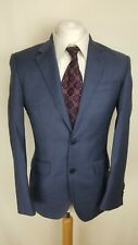 T.M. Lewin Mens Suit Jacket, Size 36S, Blue, 100% Wool, Good Condition