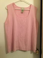 White Stag, Ladies Sleeveless Top, Size XL, Baby Pink, Ribbed, VGUC