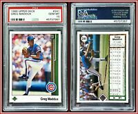 1989 Upper Deck #241 Greg Maddux PSA 10 Gem Mint Cubs Pitcher MLB Baseball HOF