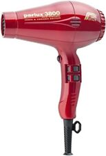 Parlux 3800 Eco Friendly Ionic & Ceramic Red hair dryer, free ship Worldwide
