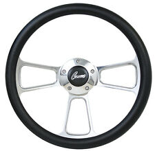 Black Vinyl Steering Wheel + Adapter For 1969-1994 Camaros!!! SHIPS FREE!!!!!