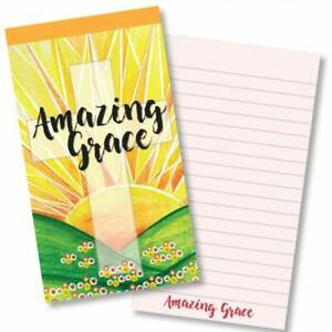 Amazing Grace Cross Christian Gift Jotter Notepad Ruled with Bible Verse