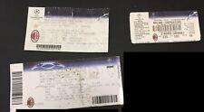 3 Biglietti Ticket Milan Stadio Champions League