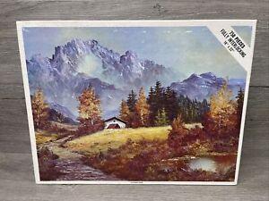 Vintage Whitman Jigsaw Puzzle Rugged Mountains & Stream Autumn Haze NEW 750 Pcs