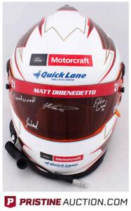 Matt DiBenedetto & All (3) Wood Brothers Signed NASCAR Full-Size Helmet (PA COA)