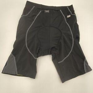 Santic Power-Dry Padded Cycling Shorts Mens Size Medium Black and Gray