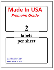 Premium Shipping Blank Labels 7 X 45 Made In Usa Self Adhesive 85 X 11 Round
