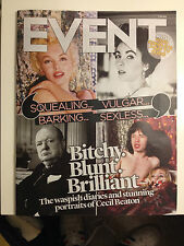 MARILYN MONROE PHOTO COVER UK EVENT MAGAZINE AUG 2014 MICK JAGGER CECIL BEATON