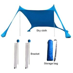 Summer Tent Beach Sunshade Lightweight Sun Shade Tent With Sandbag Anchors