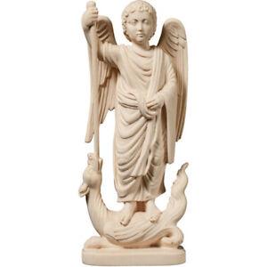 Saint Michael Archangel Romanesque IN Wood Natural