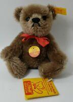 """Steiff Brown 5.5"""" jointed mohair Original Teddybar Teddy Bear, Germany, 0202/15"""