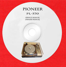 Service owner manuals for Pioneer PL-570 turntable on 1 DVD in pdf format