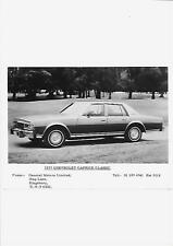 USA 1977 CHEVROLET CAPRICE CLASSIC UK PRESS PHOTO 'BROCHURE'