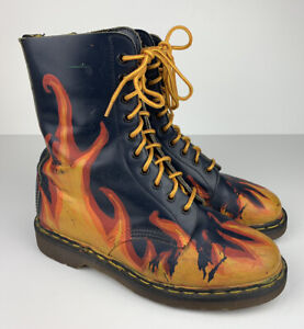 Dr. Martens Vintage Airwair Boots Made In England Blue Women Sz US 9 UK 7 *Rare*