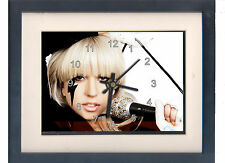 Lady Gaga. High quality framed print and clock. NEW