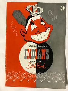 Vintage 1949 World Champion Cleveland Indians Official Sketchbook in NEAR MINT C