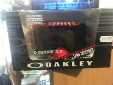 Oakley Oframe 2.0 Frequency Red Orange With Dark Grey And Clear Lens