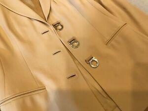 Salvatore Ferragamo Woman's Pant Suit Size 40 signature classic buttons