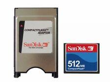 SanDisk 512MB CF Compact Flash + ATA PC Adaptateur = PCMCIA disque pour bride