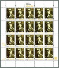 MNH FS 4853 full sheet - General Władysław Sikorski Polish Army World War II WW2