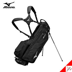 "Mizuno 2020 BR-D3 Ultra Light Men Golf Stand Bag 9.5"" 4Way 2kg 4.5lbs PE- Black"