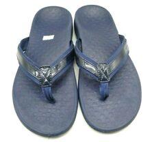 Vionic Navy Blue Casual Slide Thong Comfort Sandals Shoes Women's 9