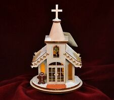 GINGER COTTAGES CHRISTMAS CHAPEL w/NATIVITY CHRISTMAS ORNAMENT USA MADE GC102N